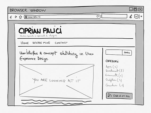 UI Concept Sketch